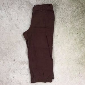 Additions by Chico's 0 (Small 4) BROWN Linen Pants